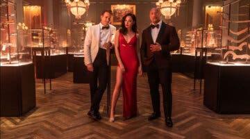 Imagen de Alerta Roja, el nuevo hit de Netflix, Dwayne Johnson, Ryan Reynolds y Gal Gadot, brilla en este nuevo tráiler