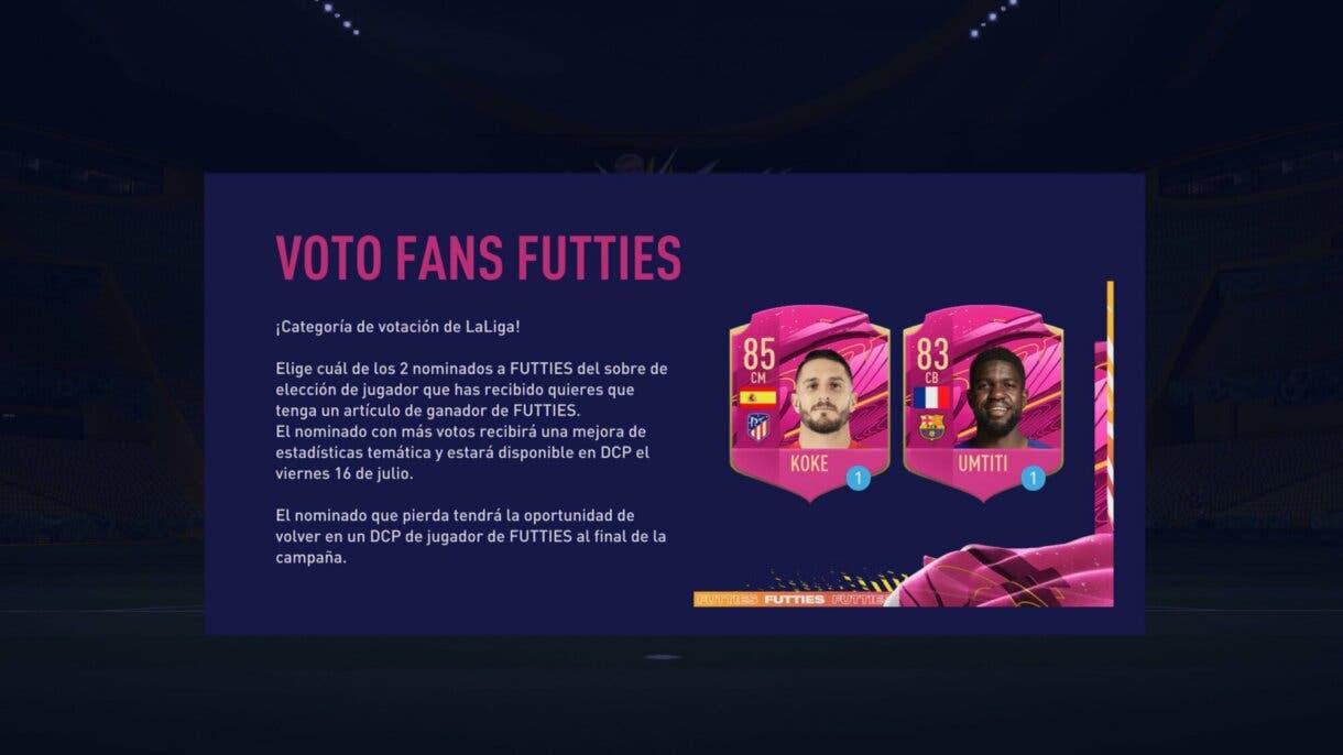 FIFA 21: Ya podemos votar por el próximo FUTTIES SBC. Estos jugadores de la Liga Santander son sus candidatos Ultimate Team