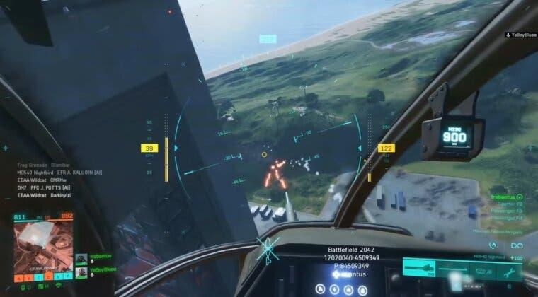 Imagen de Un gameplay de Battlefield 2042 muestra cómo se juega desde un helicóptero