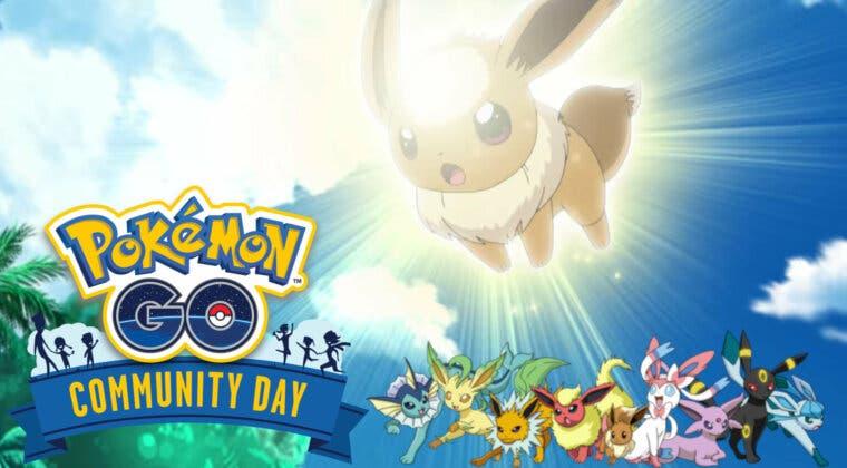 Imagen de Día de la Comunidad de agosto de Pokémon GO: Movimientos exclusivos de Eevee y sus evoluciones