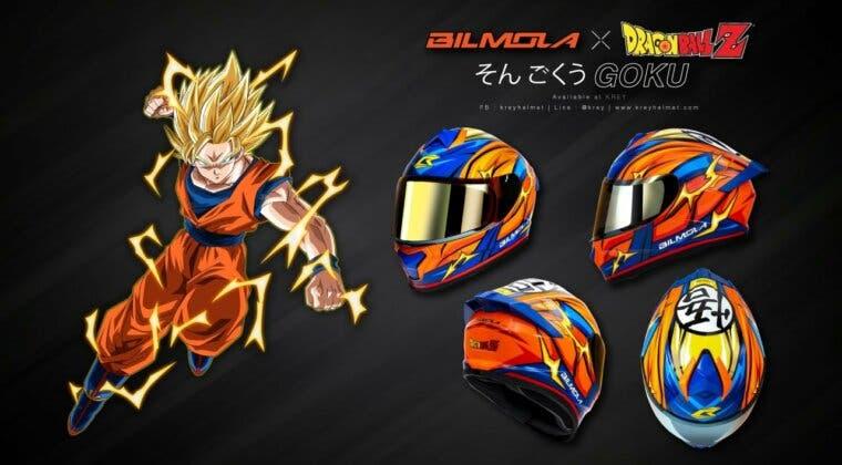 Imagen de Toei Animation y BILMOLA presentan varios cascos para motos basados en Dragon Ball Z
