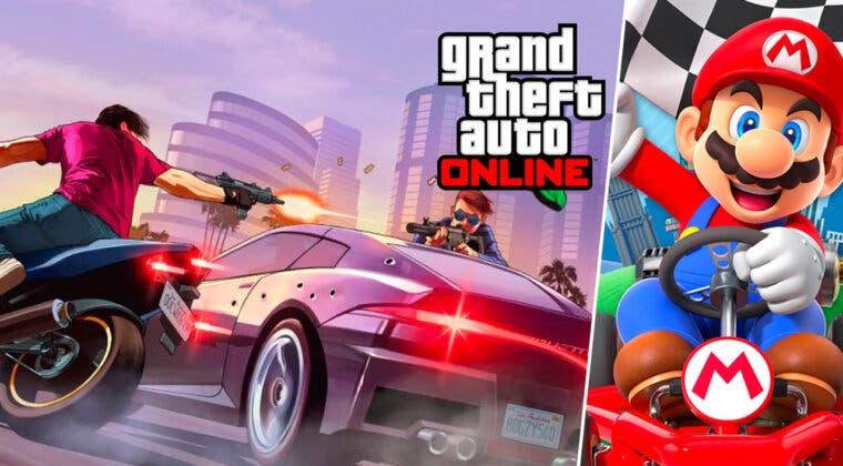 Imagen de GTA Online: un jugador recrea una carrera de Mario Kart y este es el divertido resultado