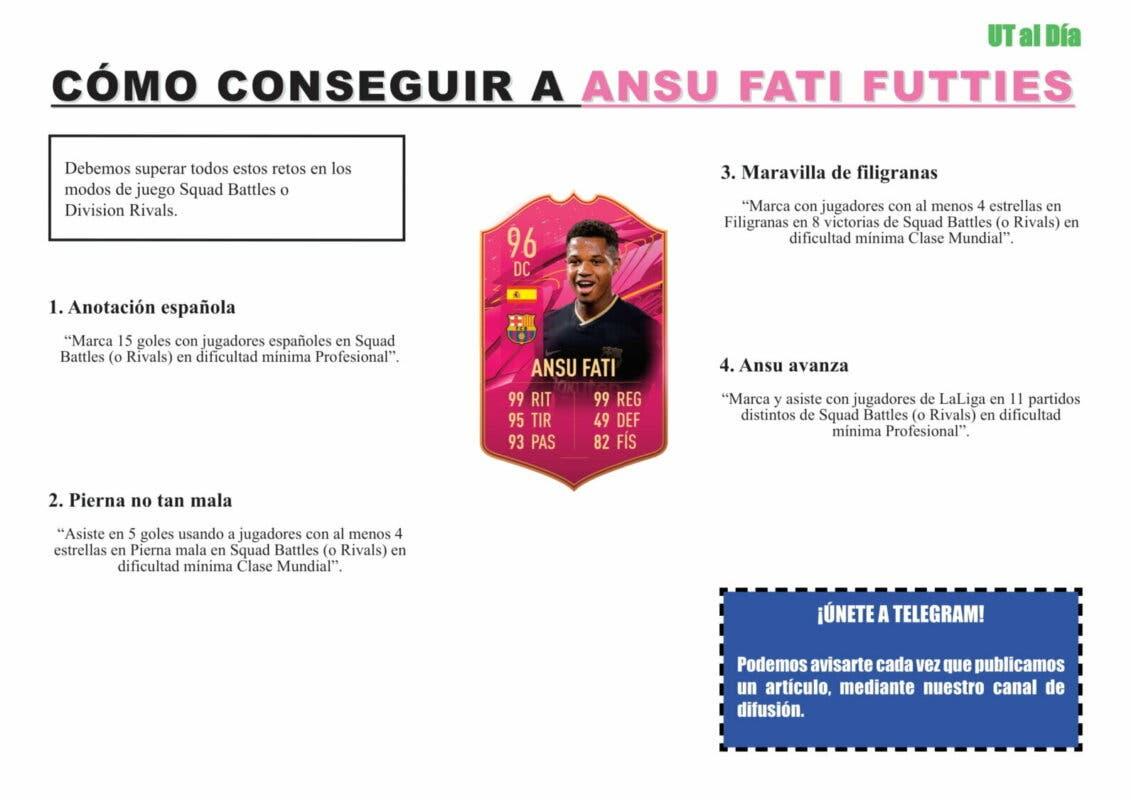 FIFA 21 Ultimate Team Guía Ansu Fati FUTTIES