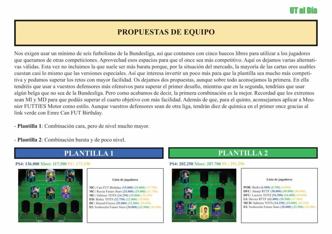 FIFA 21 Ultimate Team Guía Witsel Meunier FUTTIES