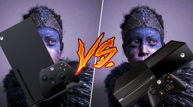 Imagen de Así es Hellblade: Senua's Sacrifice en Xbox Series comparado con Xbox One