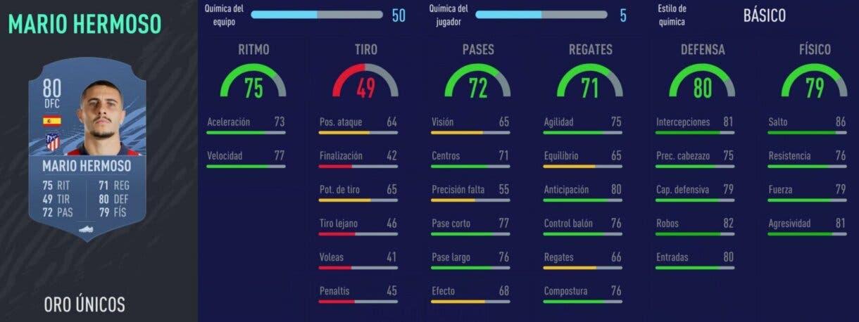 FIFA 22 medias: jugadores útiles de la Liga Santander con probabilidades de ser aún mejores (segunda parte) Ultimate Team Mario Hermoso