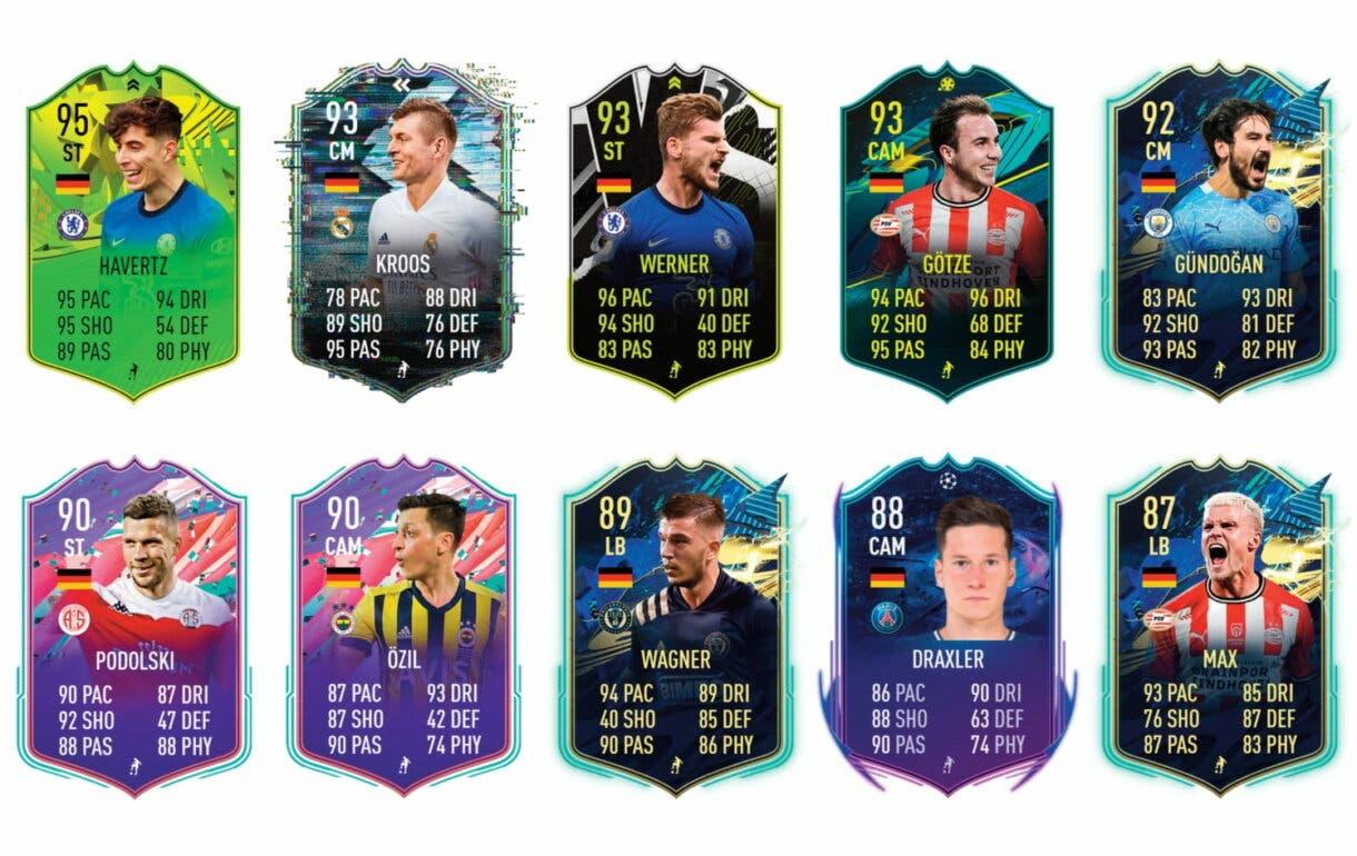 Links naranjas de Sané FUTTIES. FIFA 21 Ultimate Team