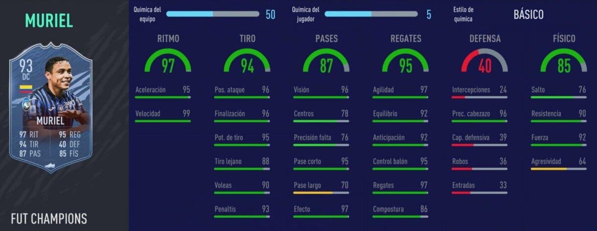 FIFA 21: los mejores delanteros de la Serie A relación calidad/precio stats in game Muriel TOTS