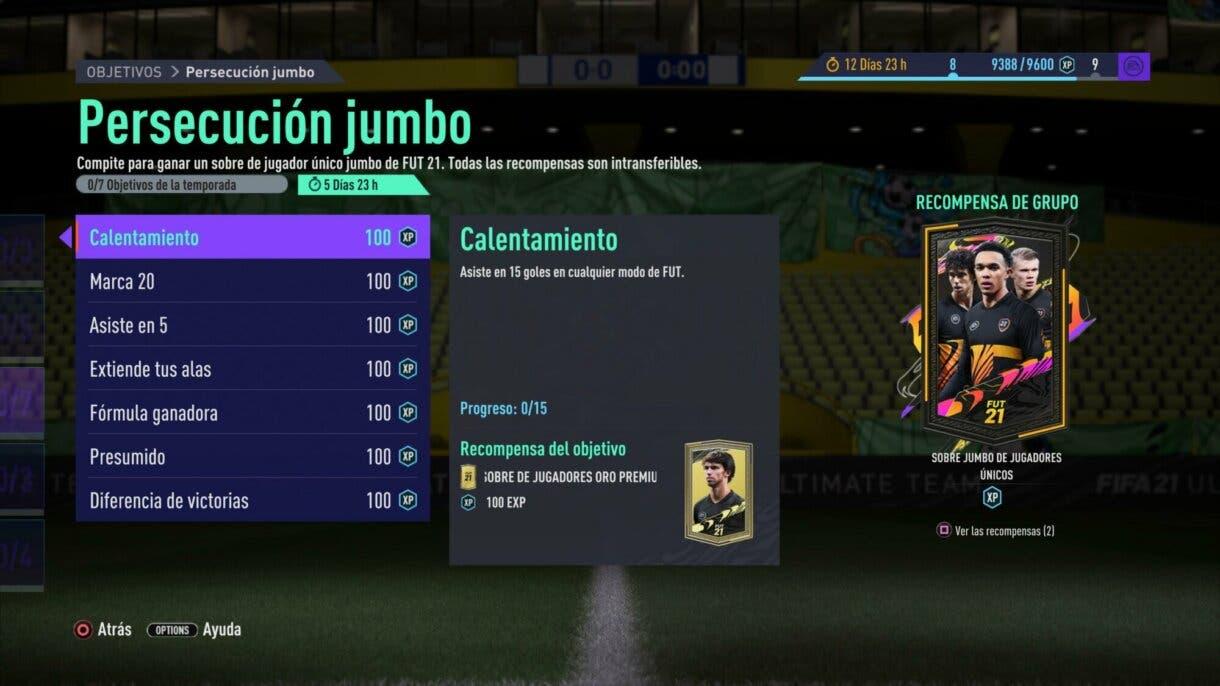 FIFA 21: llegan nuevos sobres gratuitos para Ultimate Team Persecución jumbo