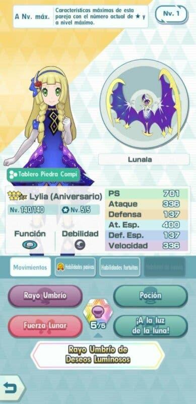 Pokemon Masters EX Lylia y Lunala