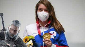 Imagen de La ciudad de la medallista Vitalina Batsaráshkina la recibe con este mítico tema de The Witcher