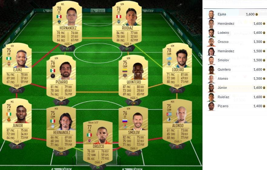 FIFA 21 Ultimate Team SBC Mejoras Pre-Season