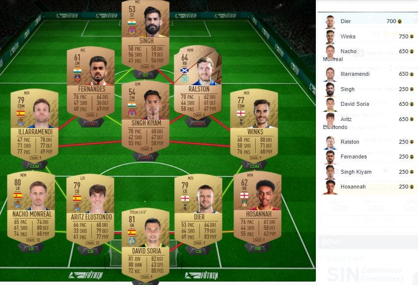 FIFA 22 Ultimate Team SBC Solución Partidos de Marquesina 23-09-2021