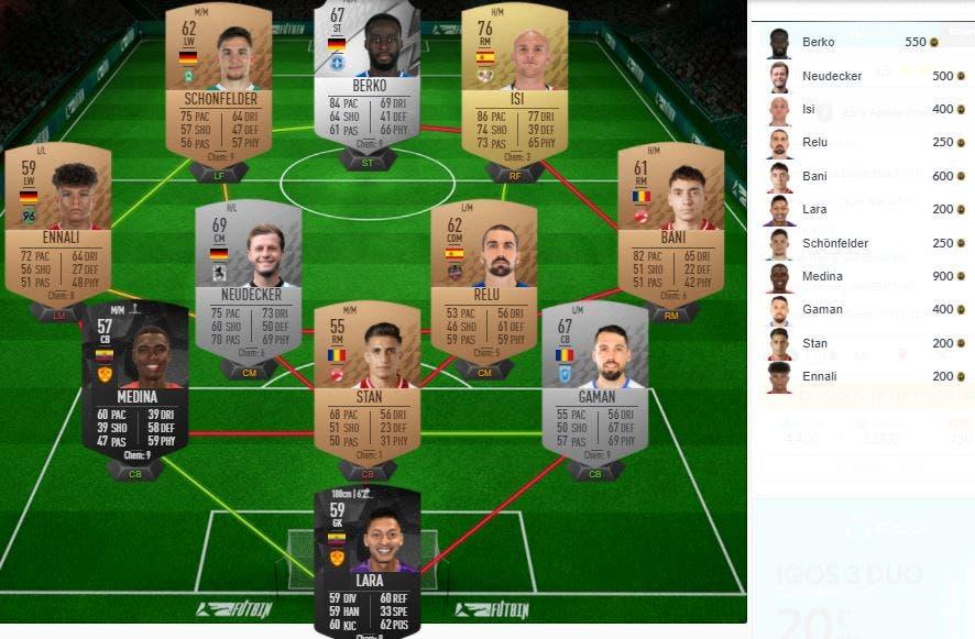 FIFA 22 Ultimate Team SBC Desafío acceso anticipado