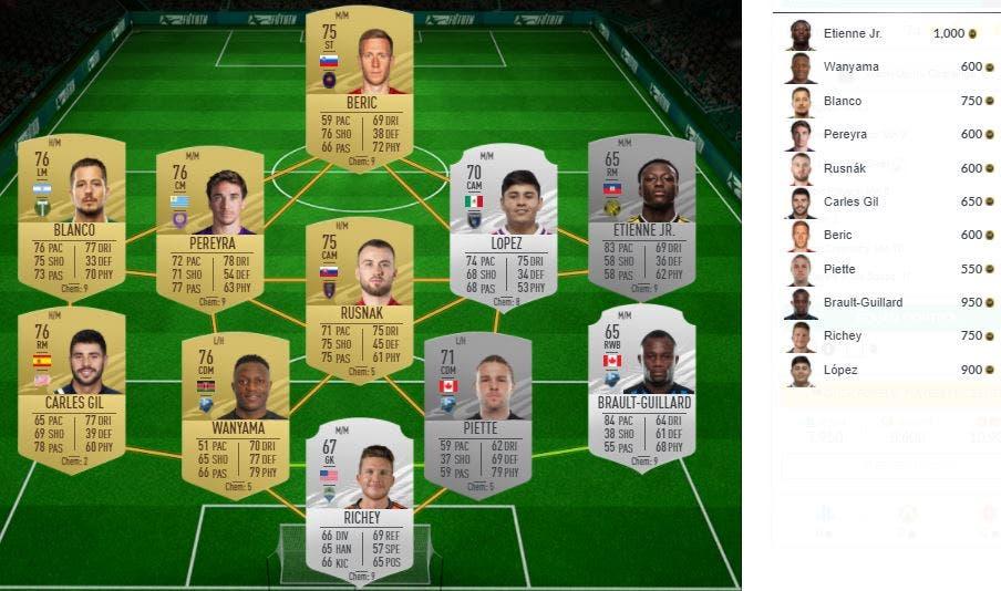 FIFA 21 Ultimate Team Calentamiento II Desafío 1 Pre-season