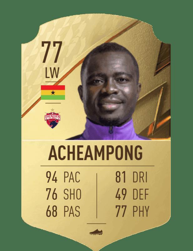 FIFA 22 medias: estos son los jugadores más rápidos de Ultimate Team y Modo Carrera Acheampong