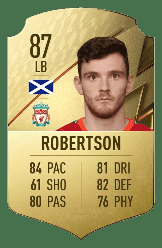 FIFA 22: revelado el top 20 de jugadores de la Premier League con mayor media Robertson