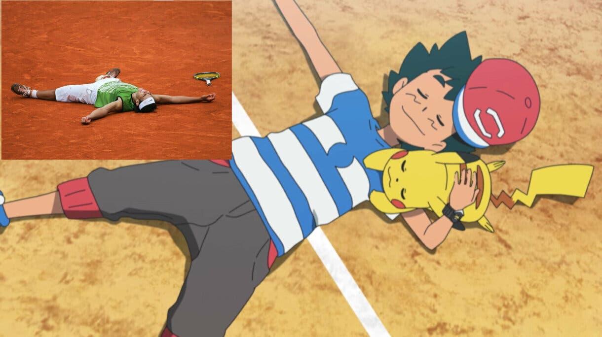 anime de Pokemon Ash y Pikachu victoria total Liga Alola Rafa Nadal