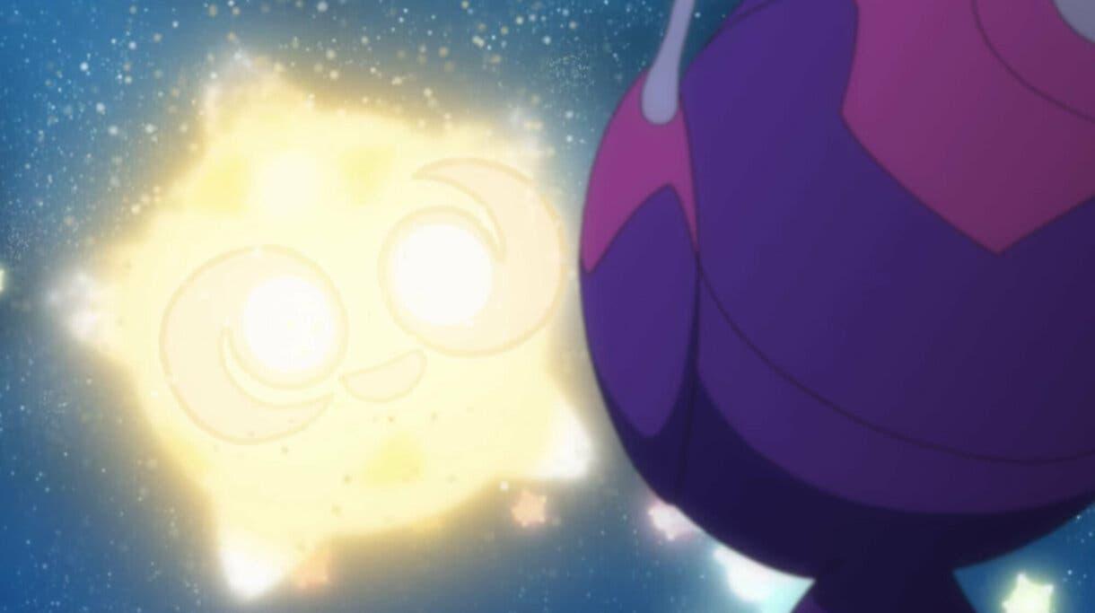 anime de Pokemon Sol y Luna Minior Poipole despedida
