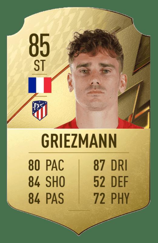 FIFA 22 medias: estos son los 20 mejores jugadores de la Liga Santander en Ultimate Team Griezmann