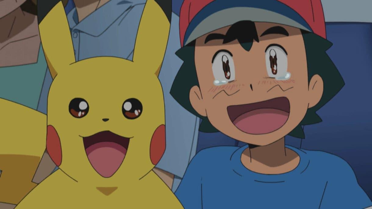 Ash emocionado anime de Pokemon Sol y Luna