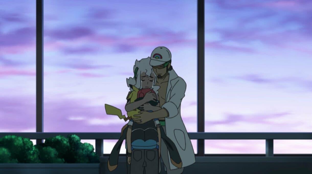 Ash Kukui Pimpinela despedida anime de Pokemon