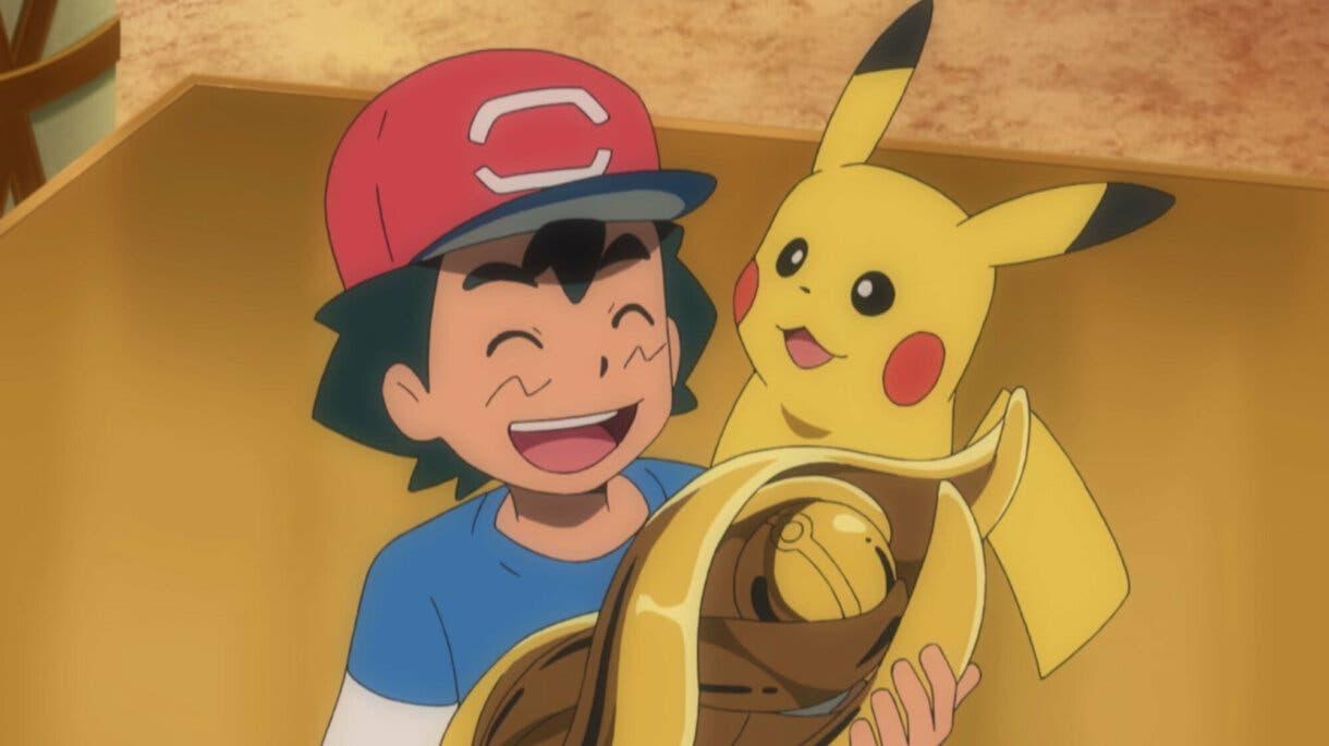 Ash trofeo Liga de Alola anime de Pokemon