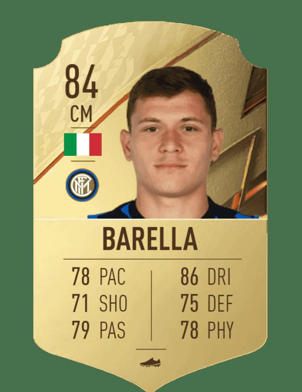 FIFA 22 medias: reveladas más cartas oficiales de Ultimate Team Barella