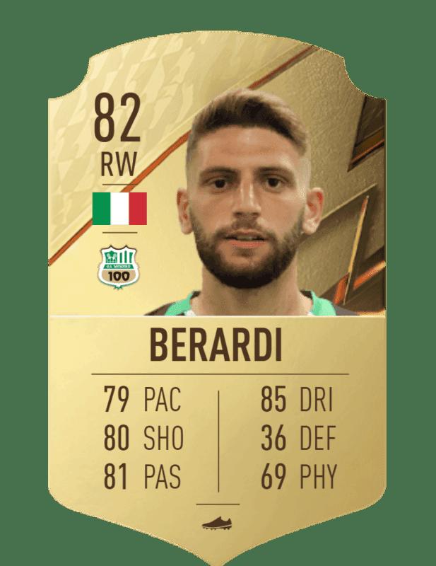 FIFA 22 medias: reveladas más cartas oficiales de Ultimate Team Berardi