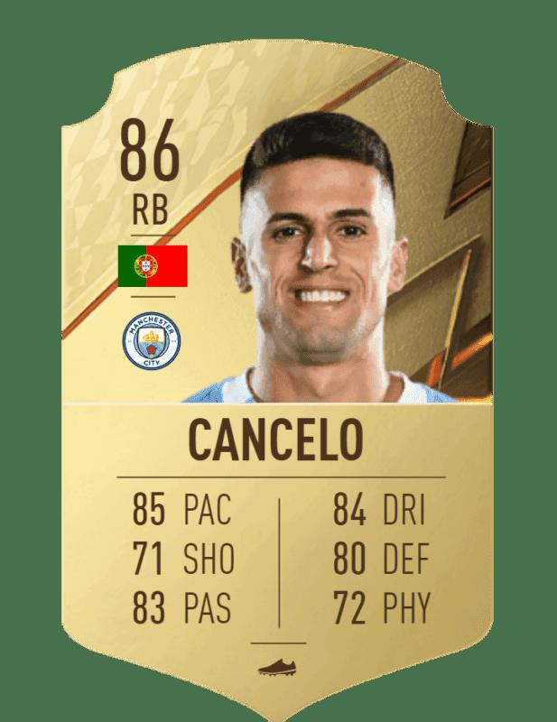FIFA 22 medias: estas son todas las cartas reveladas del Manchester City Ultimate Team Cancelo