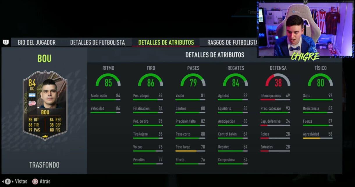 FIFA 22: estos son los jugadores gratuitos Trasfondo de la primera temporada de Ultimate Team stats in game Gustavo Bou