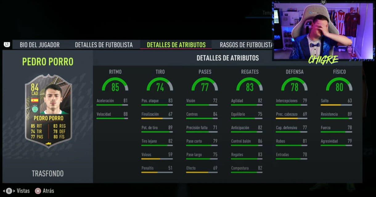 FIFA 22: estos son los jugadores gratuitos Trasfondo de la primera temporada de Ultimate Team stats in game Pedro Porro