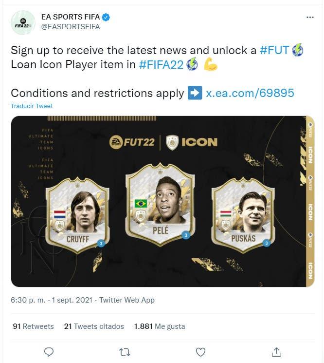 FIFA 22: así puedes conseguir gratis a Pelé, Cruyff o Puskás Icono cedido en Ultimate Team