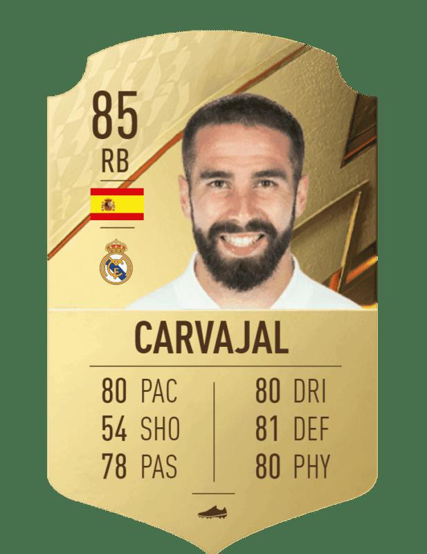 FIFA 22 medias: estas son las cartas oficiales del Real Madrid en Ultimate Team Carvajal