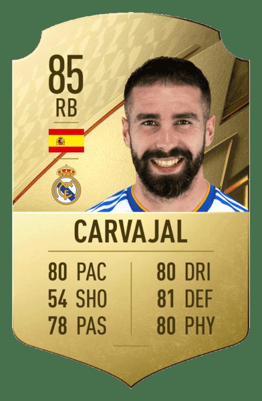FIFA 22 medias: estos son los 20 mejores jugadores de la Liga Santander en Ultimate Team Carvajal