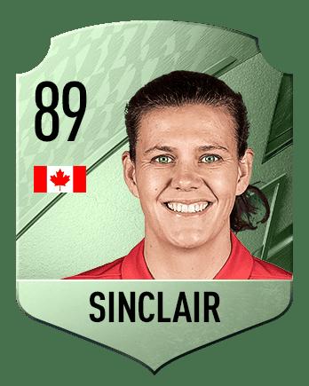 Estas son las mejores jugadoras de FIFA 22 (medias) Sinclair