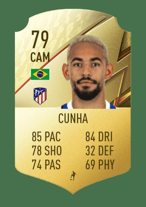 FIFA 22 medias: estas son todas las cartas del Atlético de Madrid en Ultimate Team Cunha