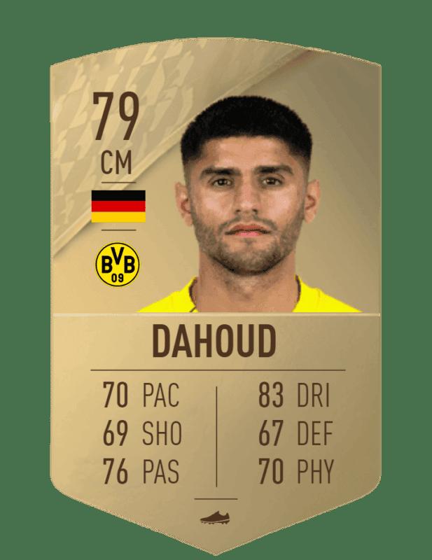 FIFA 22 medias: estas son las cartas del Borussia Dortmund Dahoud