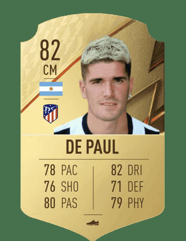 FIFA 22 medias: el Atlético de Madrid cuenta con jugadores interesantes para Ultimate Team De Paul