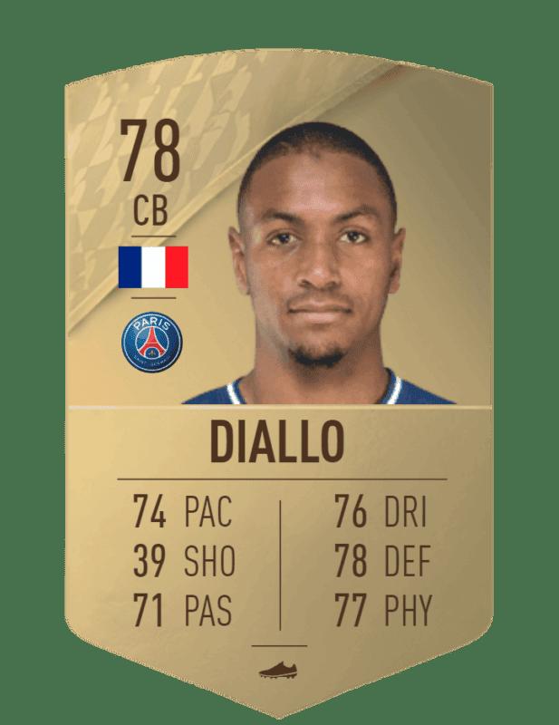 FIFA 22 medias: estas son las cartas oficiales del PSG en Ultimate Team Diallo