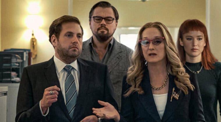 Imagen de No Mires Arriba adelanta una impactante escena de la película con Jennifer Lawrence y Leonardo DiCaprio