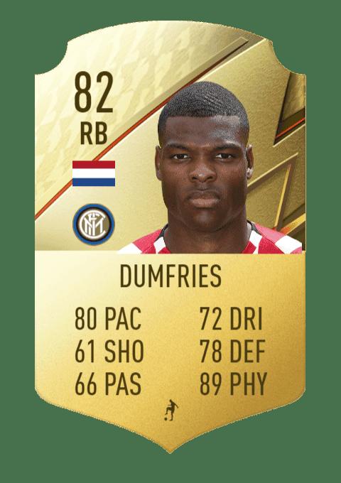 FIFA 22 medias: los jugadores con más físico en Ultimate Team y Modo Carrera Dumfries