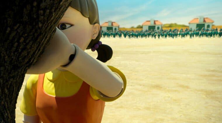 Imagen de Netflix sitúa una muñeca como la de El juego del calamar en este paso de cebra para evitar accidentes