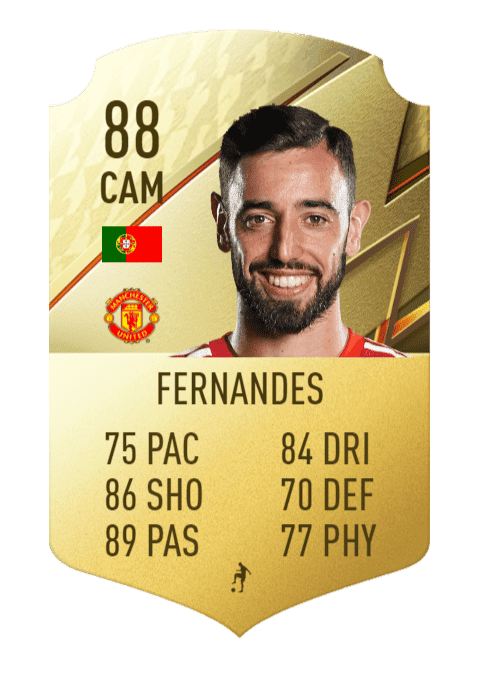 FIFA 22 medias: subidas y bajadas confirmadas de estrellas de skills y pierna mala Bruno Fernandes