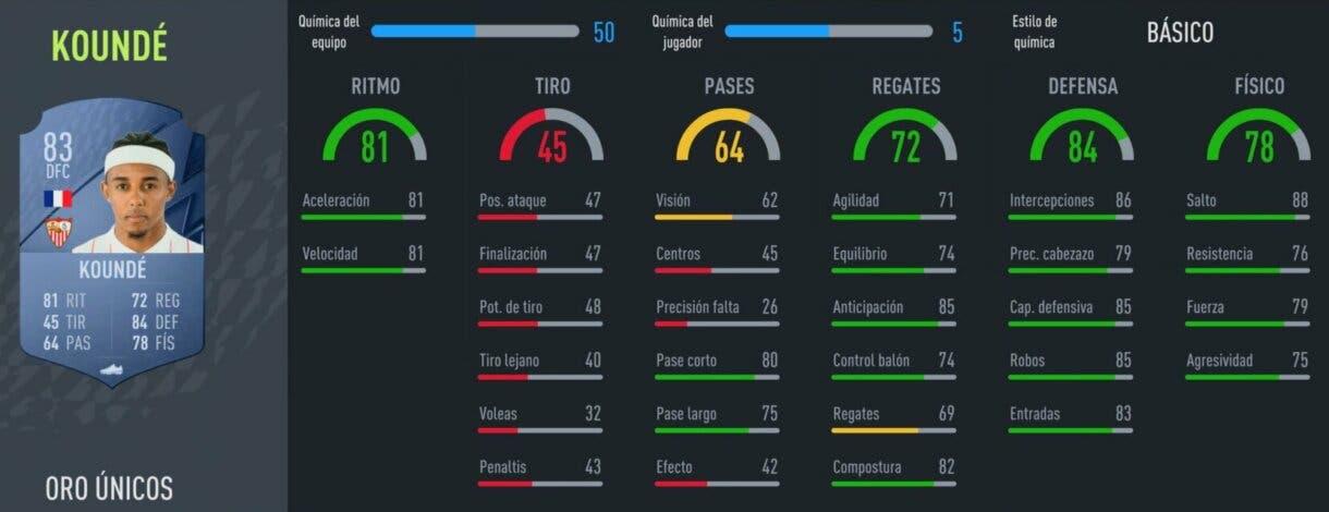 FIFA 22: los centrales oro más rápidos de Ultimate Team y Modo Carrera Koundé