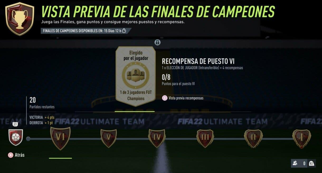 FIFA 22: confirmada la fecha de la primera Jornada de FUT Champions Ultimate Team