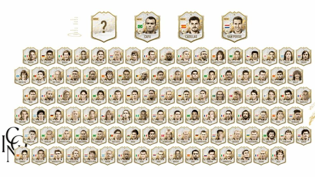 FIFA 22: listado completo de Iconos en Ultimate Team