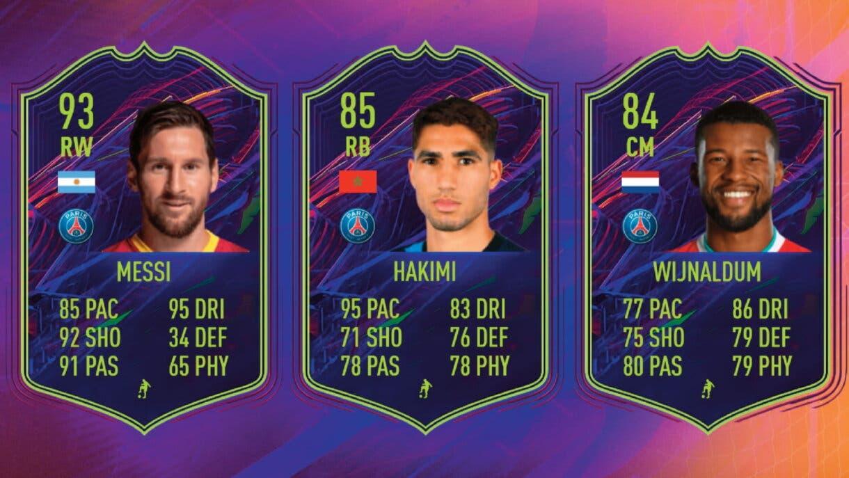 FIFA 22: Leo Messi y otros dos jugadores del PSG son confirmados como Ones to Watch (OTW) Wijnaldum y Hakimi 2