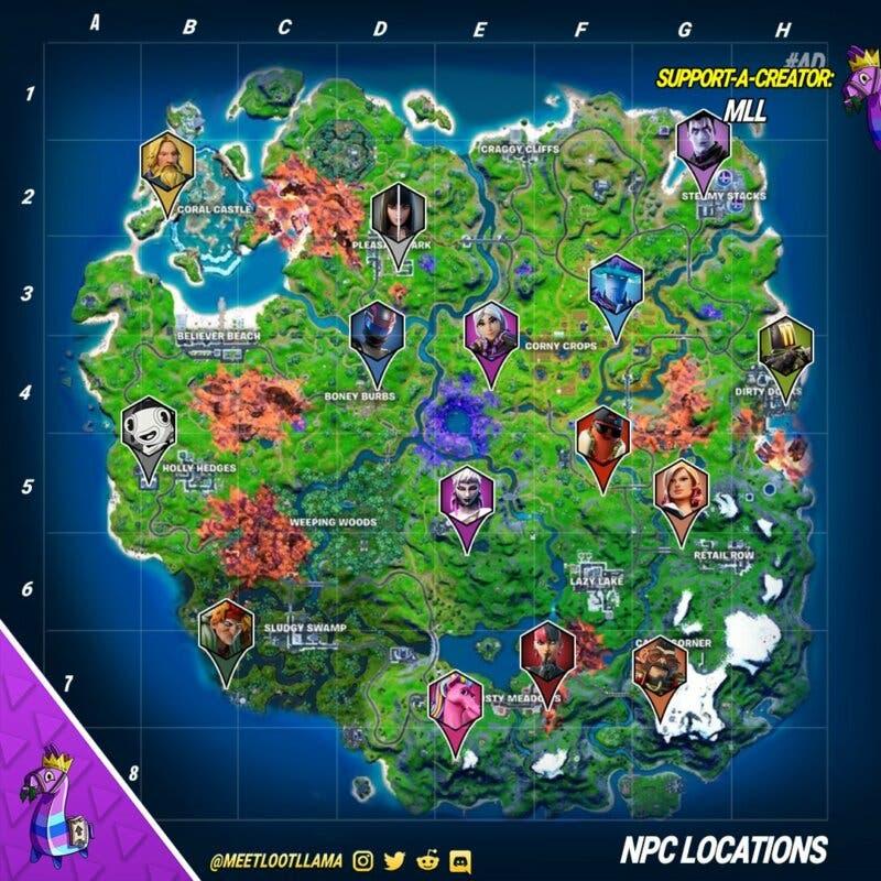 fortnite mapa npcs