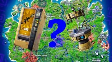 Imagen de Fortnite: dónde encontrar máquinas expendedoras y bancos de mejora en la Temporada 8